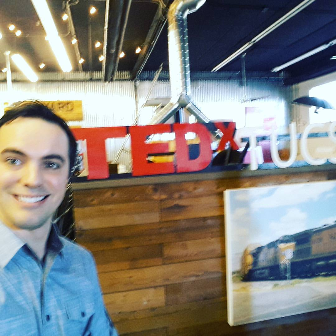 Josiah Preparing To Take The TEDx Stage